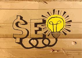 Optimisation des moteurs de recherche SEO sur carton Illustration de la texture vecteur