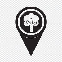 Icône de pointeur de carte