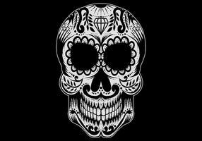 Illustration vectorielle de sucre crâne vecteur