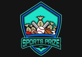 Logo du prix du sport vecteur
