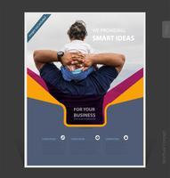 Modèle de brochure d'affaires abstrait 2019 design de couverture - Illustration vectorielle