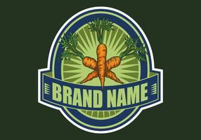 illustration vectorielle de carotte badge dessinés à la main