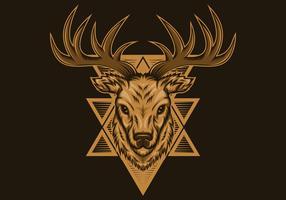 illustration vectorielle de cerf badge