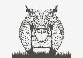 illustration vectorielle de serpent cobra vecteur