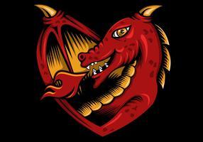 amour de dragon vecteur