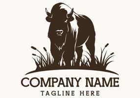 illustration vectorielle de bison ferme vecteur