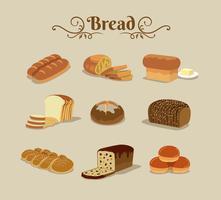 Modèle de pain sans soudure vecteur