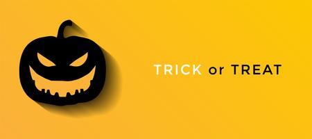 Illustration vectorielle d'halloween sur fond jaune.