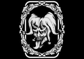 Illustration vectorielle de JOKER EVIL vecteur