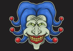 illustration vectorielle de tête de joker vecteur