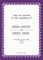 Invitation de mariage vecteur