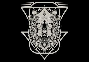 illustration vectorielle de roi lion vecteur