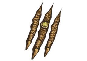 illustration vectorielle de bête griffe