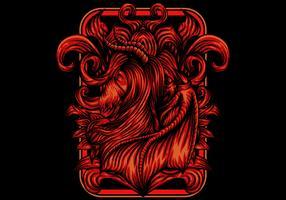 Illustration vectorielle de fille démon vecteur