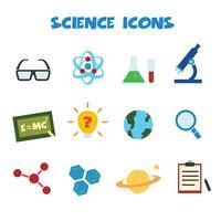 icônes de couleur de la science vecteur