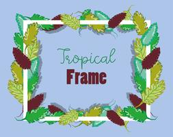Cadre carré tropical