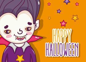 Joyeux dessins de cartes d'halloween vecteur