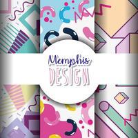 Modèles et arrière-plans de Memphis vecteur