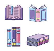 Ensemble de livres de magie vecteur