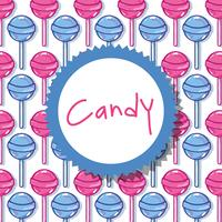 design fond délicieux bonbon sucré vecteur