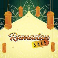 conception de bannière de vente ramadan vecteur
