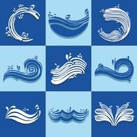 définir des vagues océaniques avec différentes formes