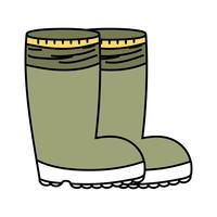 bottes en caoutchouc contre les pieds protecteurs vecteur