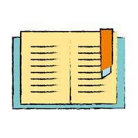 objet de livre d'éducation pour apprendre et étudier vecteur