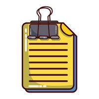 informations de document commercial avec conception de clip