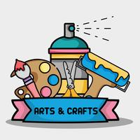 objet créatif au design d'art et d'artisanat vecteur