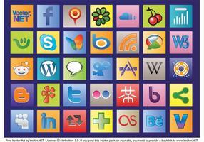 Vecteurs Web sociaux