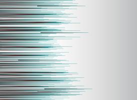 Technologie abstraite lignes horizontale couleur rouge et bleu vitesse mouvement mouvement sur fond blanc. vecteur