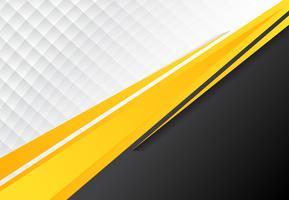 modèle de concept d'entreprise fond jaune contraste noir et gris noir. vecteur