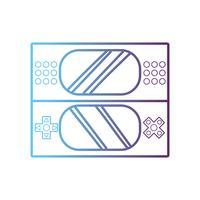 ligne technologie de console de jeu vidéo électronique