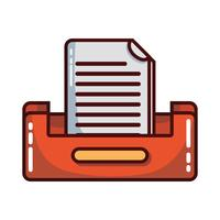 conception de classeur de document de buciness