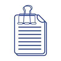 informations de document commercial en ligne avec conception de clip