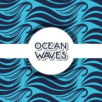 design de fond des vagues de l'océan naturel vecteur