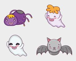 Ensemble de dessins animés d'halloween