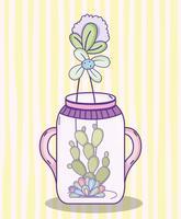 Caricature de jardin pot maçon