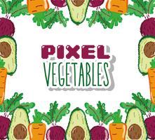 Dessins de légumes pixel