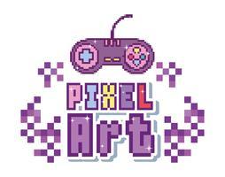 Concept d'art de pixel vecteur