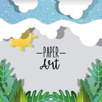 Papier art nature paysages vecteur