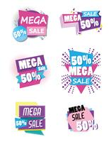 Ensemble d'affiche shopping grande vente