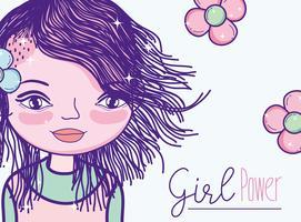 Cartoon power girl vecteur