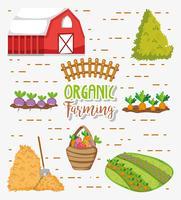 Dessins de l'agriculture biologique