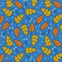Modèle sans couture avec les feuilles d'automne vecteur