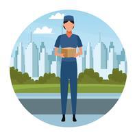 Avatar de courrier femme vecteur