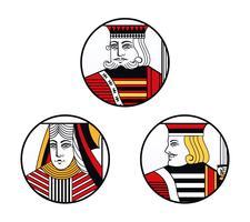 Emblème de cartes de casino