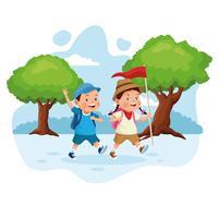 enfants en excursion scolaire