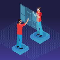 Les gens jouent avec la réalité virtuelle